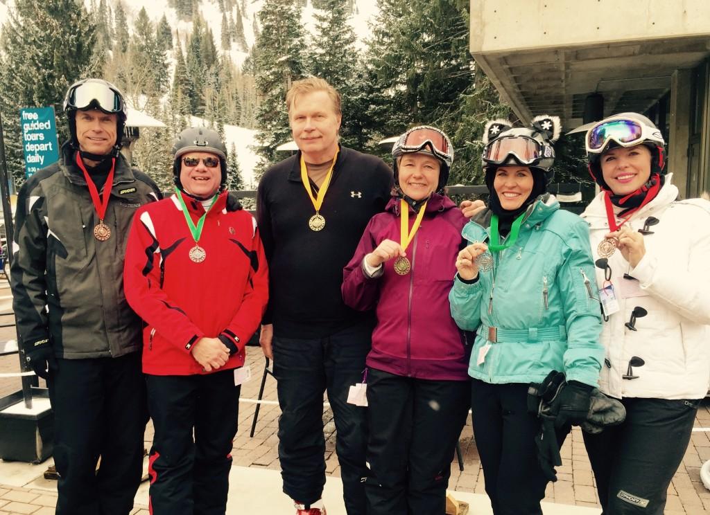 2015 m. SALFASS slidinėjimo varžybos - laimėtojai, balandžio 2 d. Snowbird, Utah.